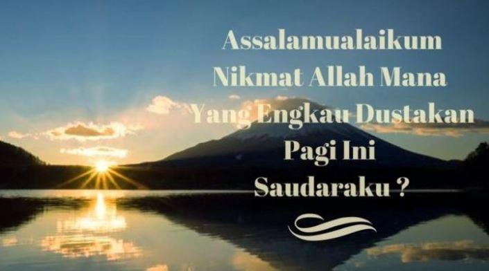 Kata Mutira Ucapan Selamat Pagi Islami Terbaru